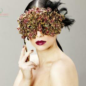 הפקת אופנה שזירת פרחים