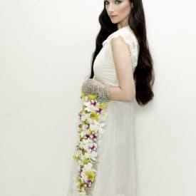 הפקת אופנה- שזירת פרחים