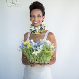 הפקת אופנה בפרחים