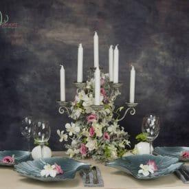 עיצוב אירועים - סטיילינג שולחנות בשילוב פרחים