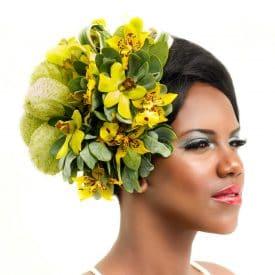 הפקת אופנה בשילוב פרחים טריים
