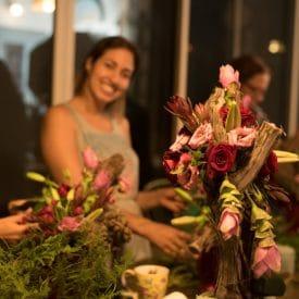 קורס שזירת פרחים מתקדמים - סידור מודרני בשילוב אלמנטים מן הטבע