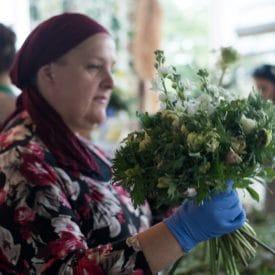 קורס שזירת פרחים מתקדמים - שזירת הבוקה הקבוצתי