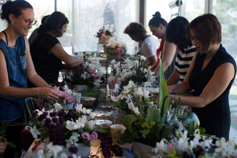 סדנת שזירת פרחים חד פעמית לראש השנה