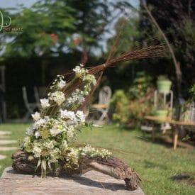 שזירת פרחים - עיצוב פרחים בלבן