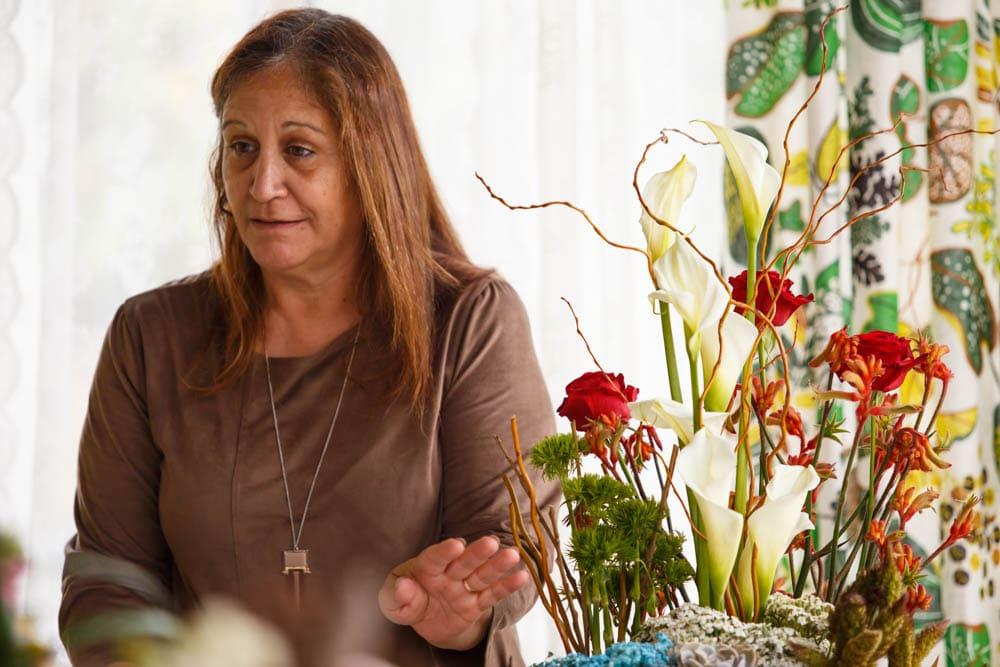קןרס שזירת פרחים מתקדמות - פרויקט הסיום של חני אגא