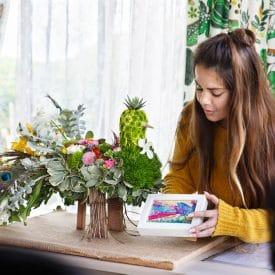 מירית סיטיון - פרויקט סיום קורס שזירת פרחים מתקדמים