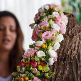 קורס שזירת פרחים מתקדמות - פרויקט הסיום של אתי טרם