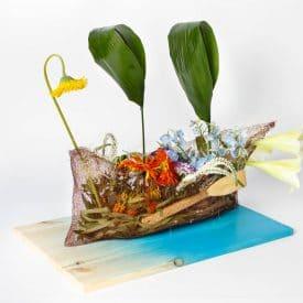 שאול סטרול - פרויקט סיום קורס שזירת פרחים מתקדמים