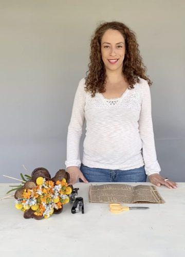 DIY – צעד אחר צעד כיצד לארוז זר ספירלה קשור בצורה מקצועית