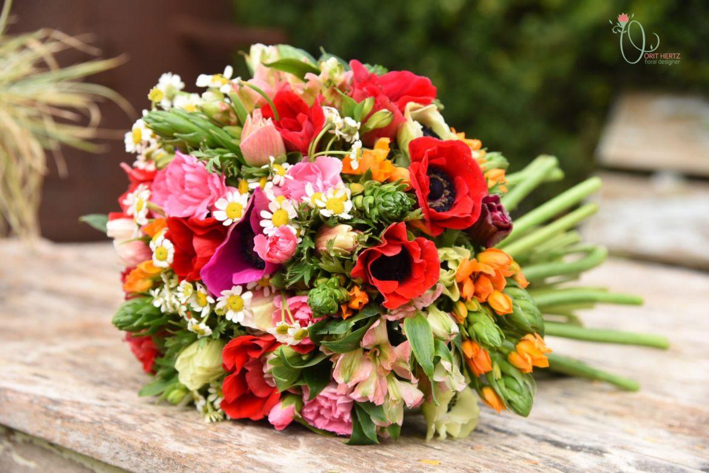 סדנת שזירת פרחים מעשית חד פעמית – יום שישי 16.3.18