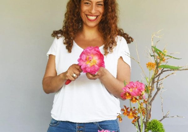 DIY כיצד לשזור סידור פרחים מינימליסטי, מודרני ללא ספוג