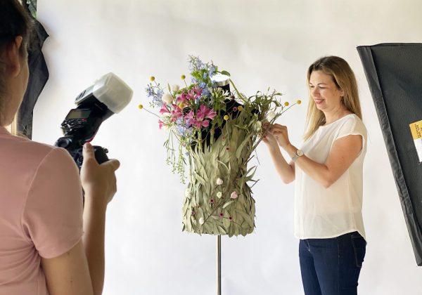 סיום קורס שזירת פרחים מתקדמים קבוצת חורף 2020