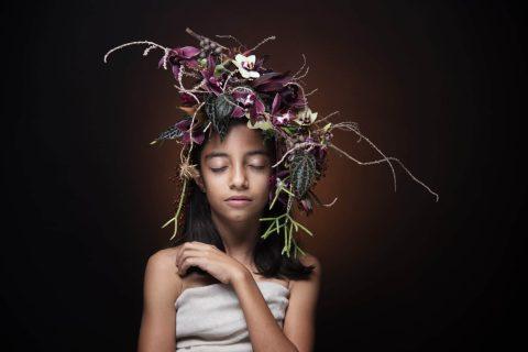 הפקות אופנה עם פרחים