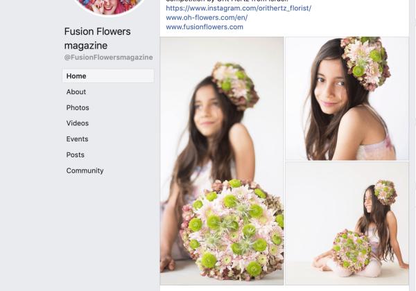 זכייה בתחרויות עיצוב במגזינים – Fusion Flowers Magazine